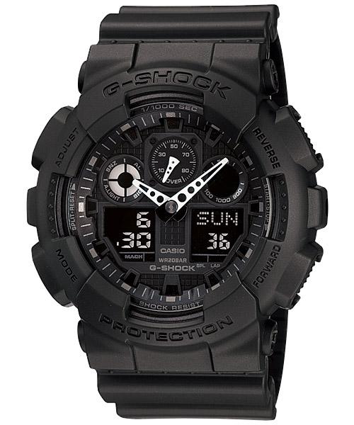 นาฬิกา คาสิโอ Casio G-Shock Standard Analog-Digital Three-Eye Dial รุ่น GA-100-1A1DR (DARK KNIGHT)