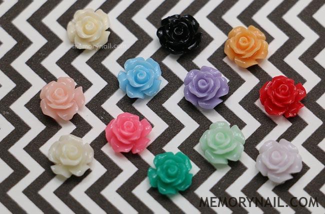 ดอกไม้ ติดเล็บ,ดอกไม้ แต่งเล็บ,ดอกไม้พลาสติก,ของตกแต่งเล็บ