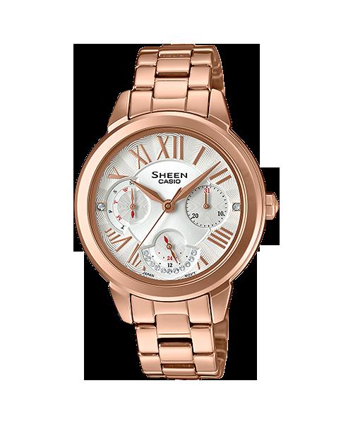 นาฬิกา คาสิโอ Casio SHEEN MULTI-HAND SHE-3059 series รุ่น SHE-3059PG-7A ของแท้ รับประกัน1ปี