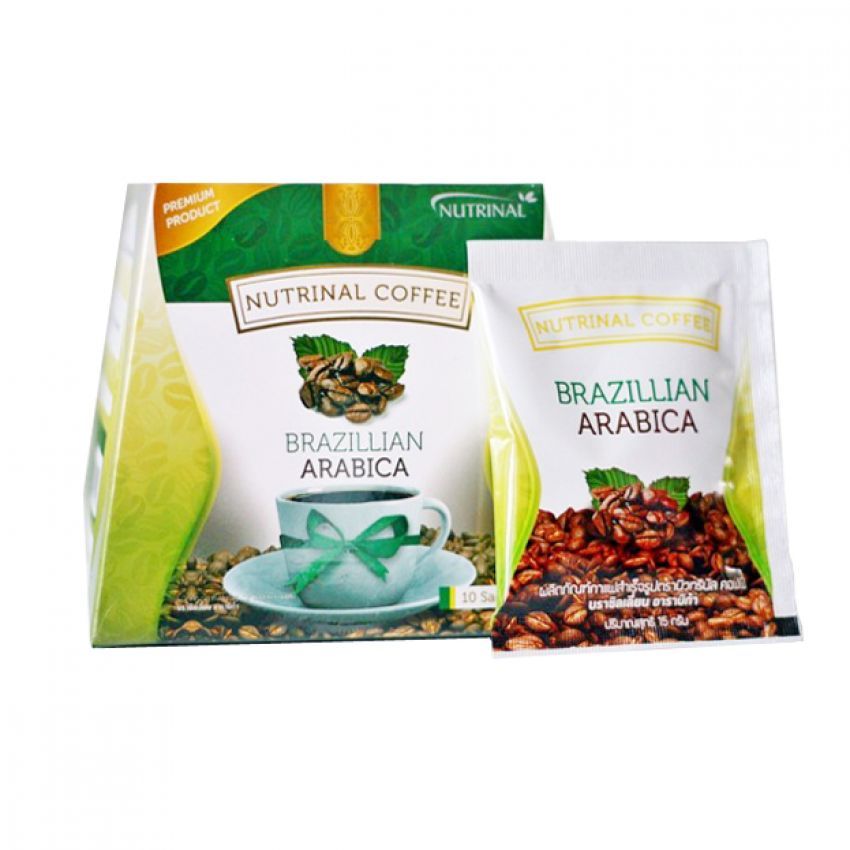 Nutrinal Coffee Brazillian Arabica ผลิตภัณฑ์กาแฟ บาซิลเลี่ยน อราบิก้า ( 30 ซอง )