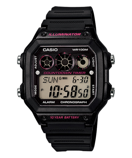 นาฬิกา คาสิโอ Casio 10 YEAR BATTERY รุ่น AE-1300WH-1A2V