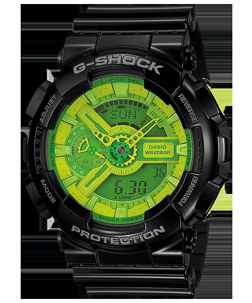 """นาฬิกา คาสิโอ Casio G-Shock Standard Analog-Digital รุ่น GA-110B-1A3 """"Mountain Dew"""""""