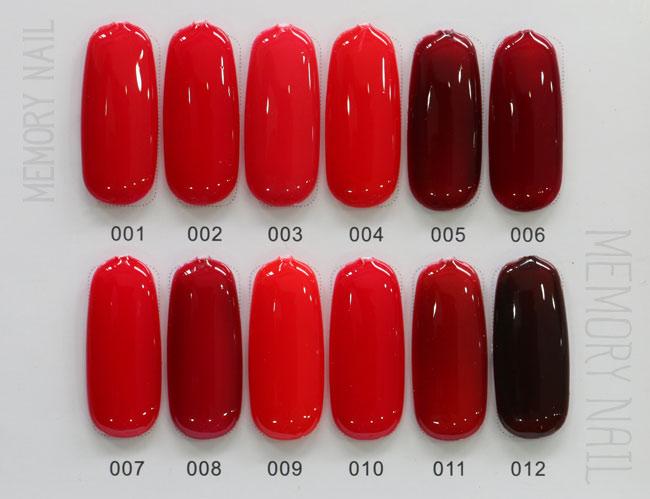 สีทาเล็บเจล EN.OU ยกเซ็ต 12ขวด โทนสีแดง GLASS RED WINE