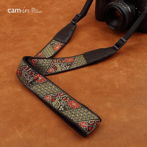 สายคล้องกล้องลายถักยูกาตะทอง cam-in Ukata Gold