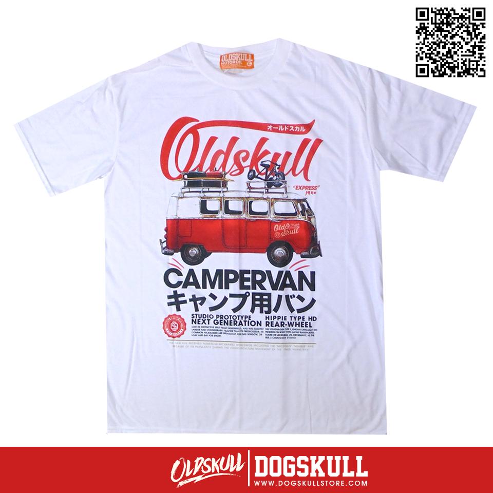 เสื้อยืด OLDSKULL : EXPRESS HD #70| สีขาว