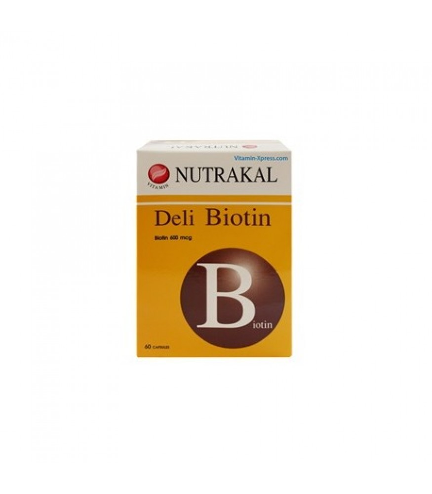 NUTRAKAL DELI BIOTIN (60 แคปซูล) สำเนา