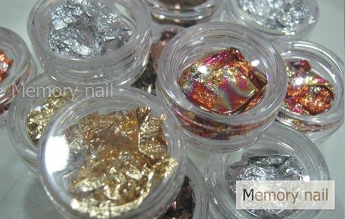ฟรอยล์ ทองแดง เงิน ทอง,กากเพชร,อุปกรณ์ตกแต่งเล็ล,อุปกรณ์แต่งเล็บ