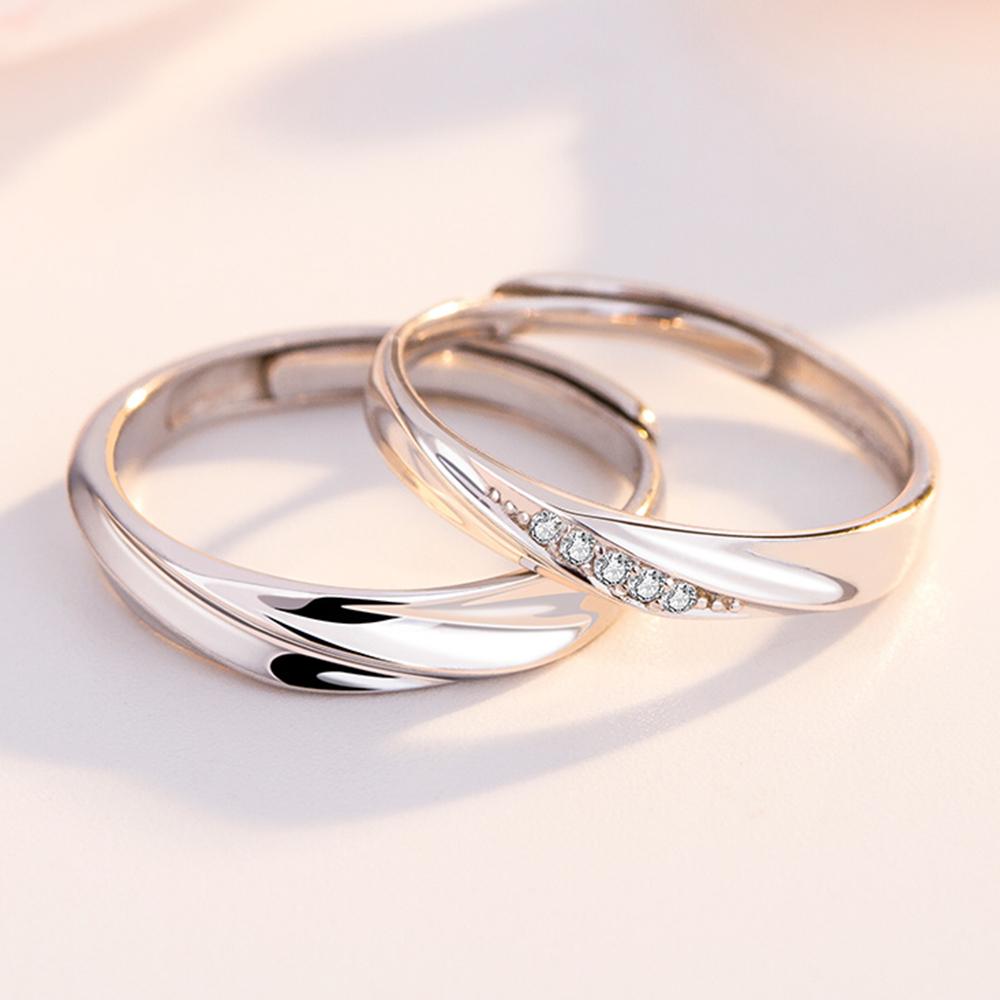 แหวนคู่รักร้าน silver 92.5 GQL016 (1คู่)