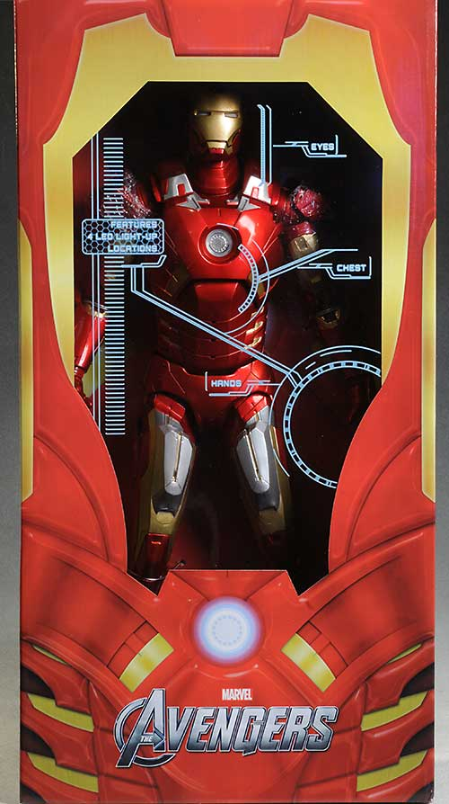 NECA IRON MAN Mark VII The Avengers 1/4 Scale 18 inch NEW