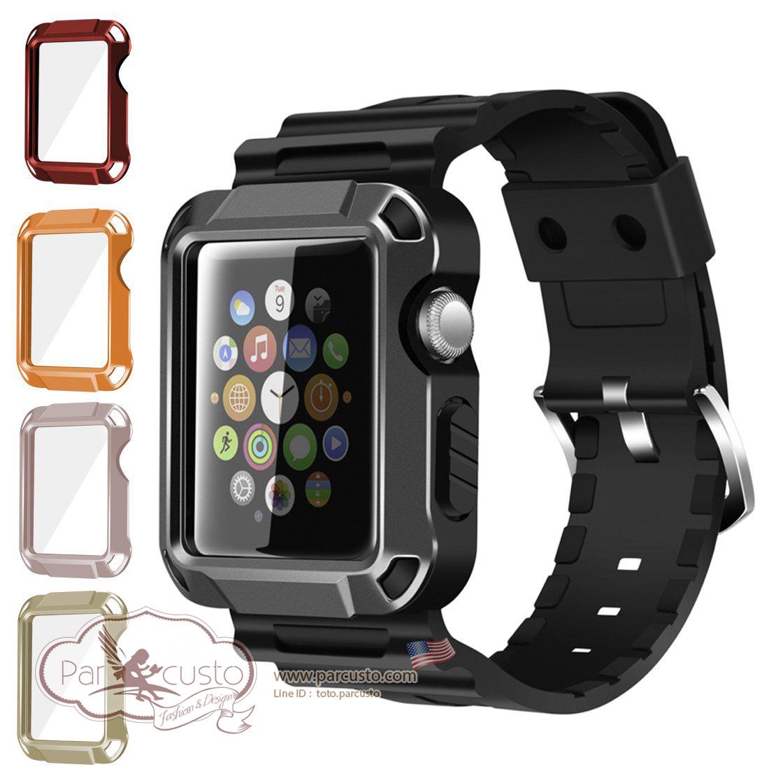 เคสกันกระแทก Apple Watch Series 1 Series 2 ขนาด 38mm และ 42mm [Universal 5-in-1] จาก iitee [Pre-order USA]