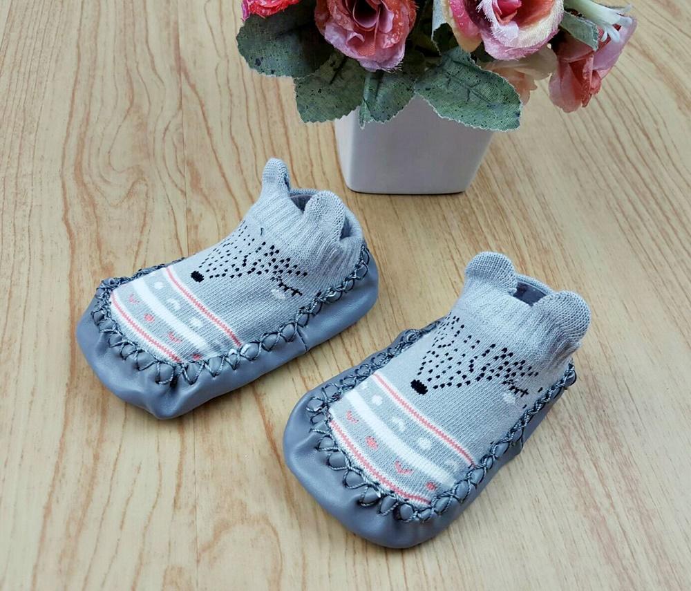 รองเท้าถุงเท้าพื้นยางหัดเดิน 2 in 1 (11,12,13,14,15,16 ซม.)