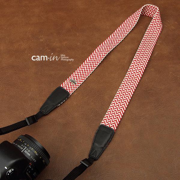 สายคล้องกล้องเก๋ๆ สายกล้องคล้องคอ cam-in Red Alert