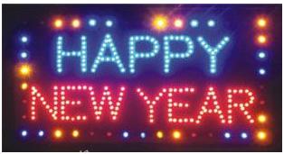 ป้ายไฟ LED HAPPY NEW YEAR คุณภาพเกรดA