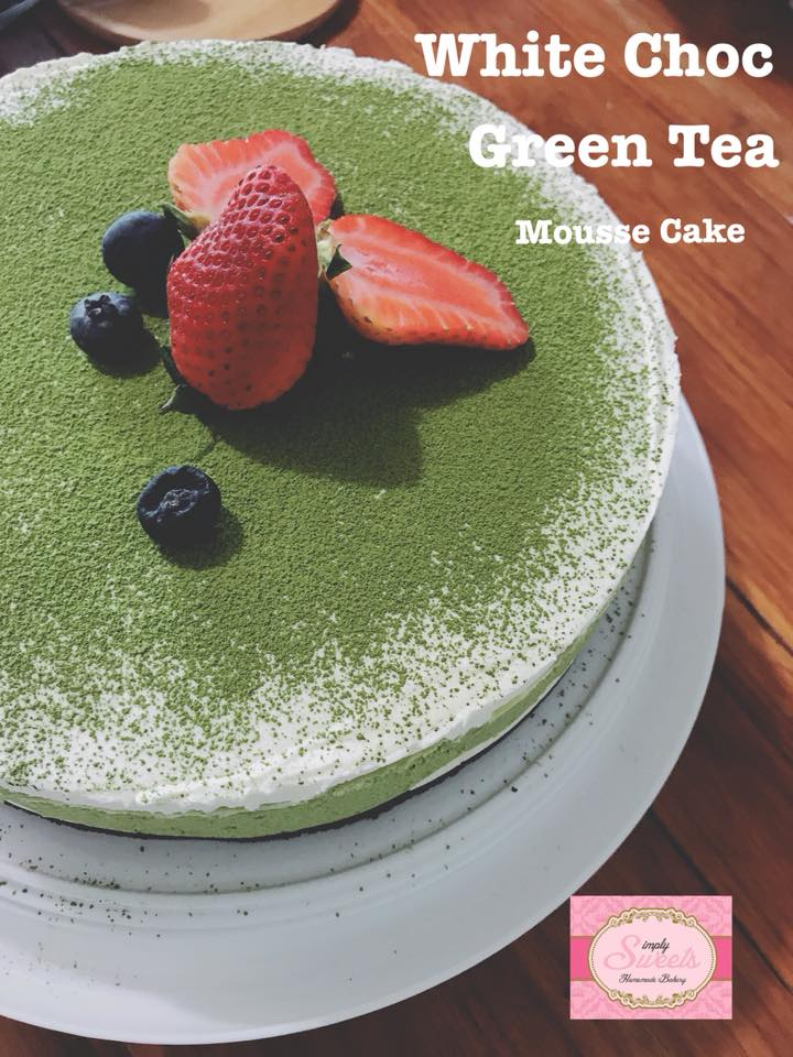 White Chocolate Green Tea Mousse Cake