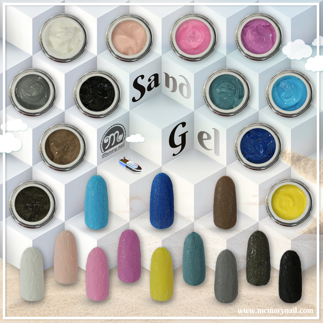 สีเจลเนื้อทราย Sand gel for nail art