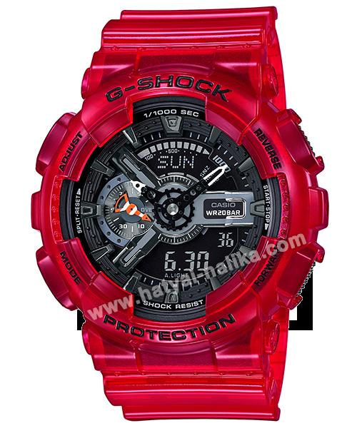 นาฬิกา Casio G-Shock GA-110CR เจลลี่ใส CORAL REEF series รุ่น GA-110CR-4A (เจลลี่แดงทับทิม) ของแท้ รับประกัน1ปี