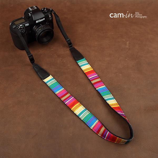 สายคล้องกล้องสีสันสดใส รุ่น cam-in Let's go to the sea