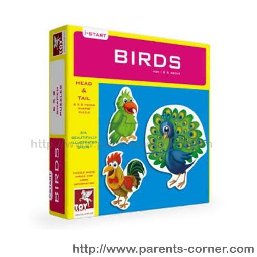 Head-tail Puzzle จิ๊กซอแบบ 2 ชิ้น/ 6 ภาพ สำหรับน้องเล็ก ชุดสัตว์ปีก