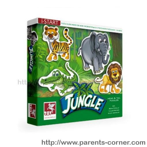 Head-tail Puzzle จิ๊กซอแบบ 2 ชิ้น/ 6 ภาพ สำหรับน้องเล็ก ชุดสัตว์ป่า