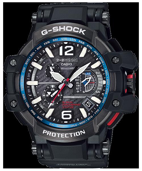 นาฬิกา Casio G-SHOCK นักบิน GRAVITYMASTER GPS Hybrid Wave Captor รุ่น GPW-1000-1A ของแท้ รับประกัน1ปี