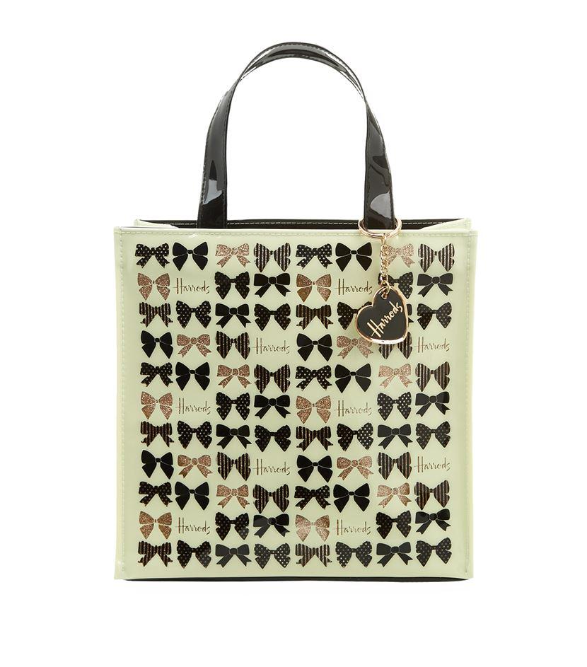 กระเป๋าแฮร์รอดส์ของแท้ Harrods Glitter Bow Small Handbag
