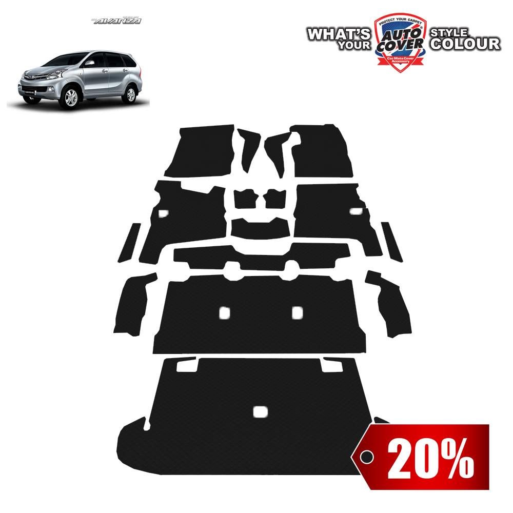 สินค้า PROMOTION!! TOYOTA AVANZA 2012-2016 พรมกระดุม Original ชุด All Full จำนวน 16 ชิ้น สีดำ