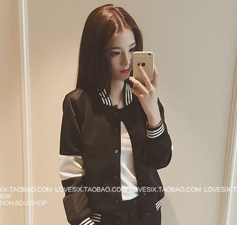 เสื้อคลุม แขนยาว ผ้าpoly ester แต่งแถบ สีดำ (มีถาพจริง)