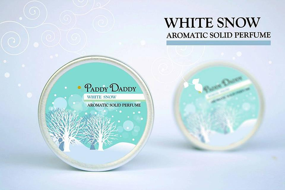 Aromatic Solid Perfume White Snow น้ำหอมแห้ง แพดดี้แดดดี้ กลิ่นไวท์สโนว์ ( กลิ่นพิเศษ จาก paddy Daddy )