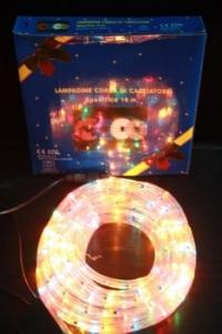 ไฟท่อ LED 2 สายกลม สีสลับ 10 เมตร มีคอนโทรล