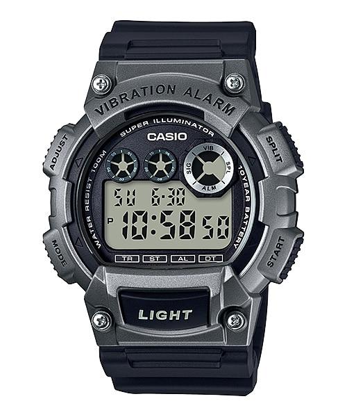 นาฬิกา คาสิโอ Casio แบตเตอรี่ 10 ปี รุ่น W-735H-1A3V (สี Space Gray) ของแท้ รับประกัน 1 ปี