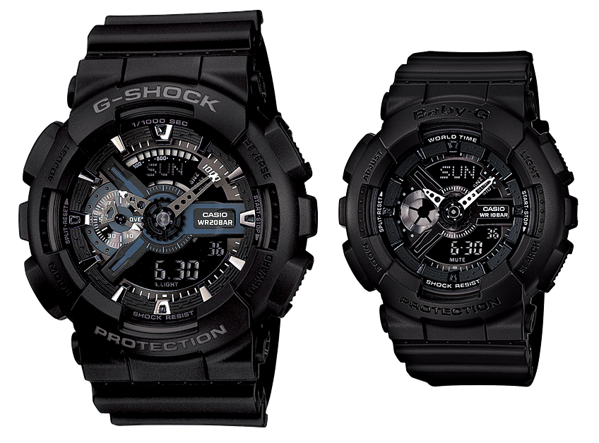 นาฬิกา คาสิโอ Casio G-Shock SETคู่รัก รุ่น GA-110-1B&BA-110BC-1 Pair set