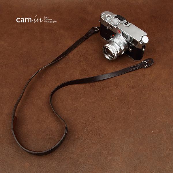 สายคล้องกล้องหนังแท้ cam-in มีที่รองคอ