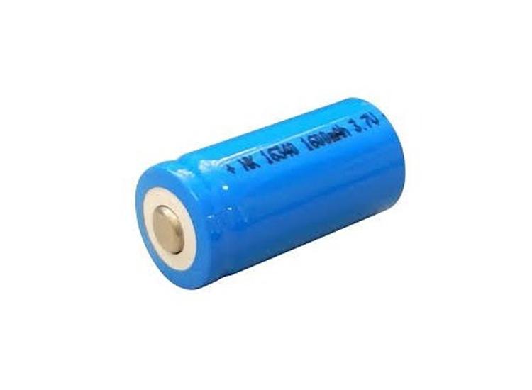 ถ่านน้ำเงินสั้น (blue laser) 16340 (3.7V)