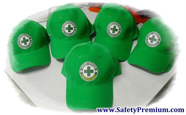 หมวกสีเขียว สำหรับ Safety Committee และ Safety Officer