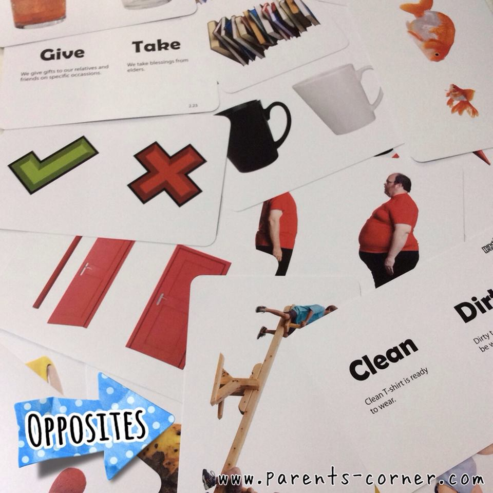 Early Learning Flash Cards - Opposites