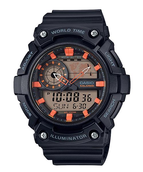 นาฬิกา Casio STANDARD Analog-Digital AEQ-200 series รุ่น AEQ-200W-1A2V ของแท้ รับประกัน 1 ปี