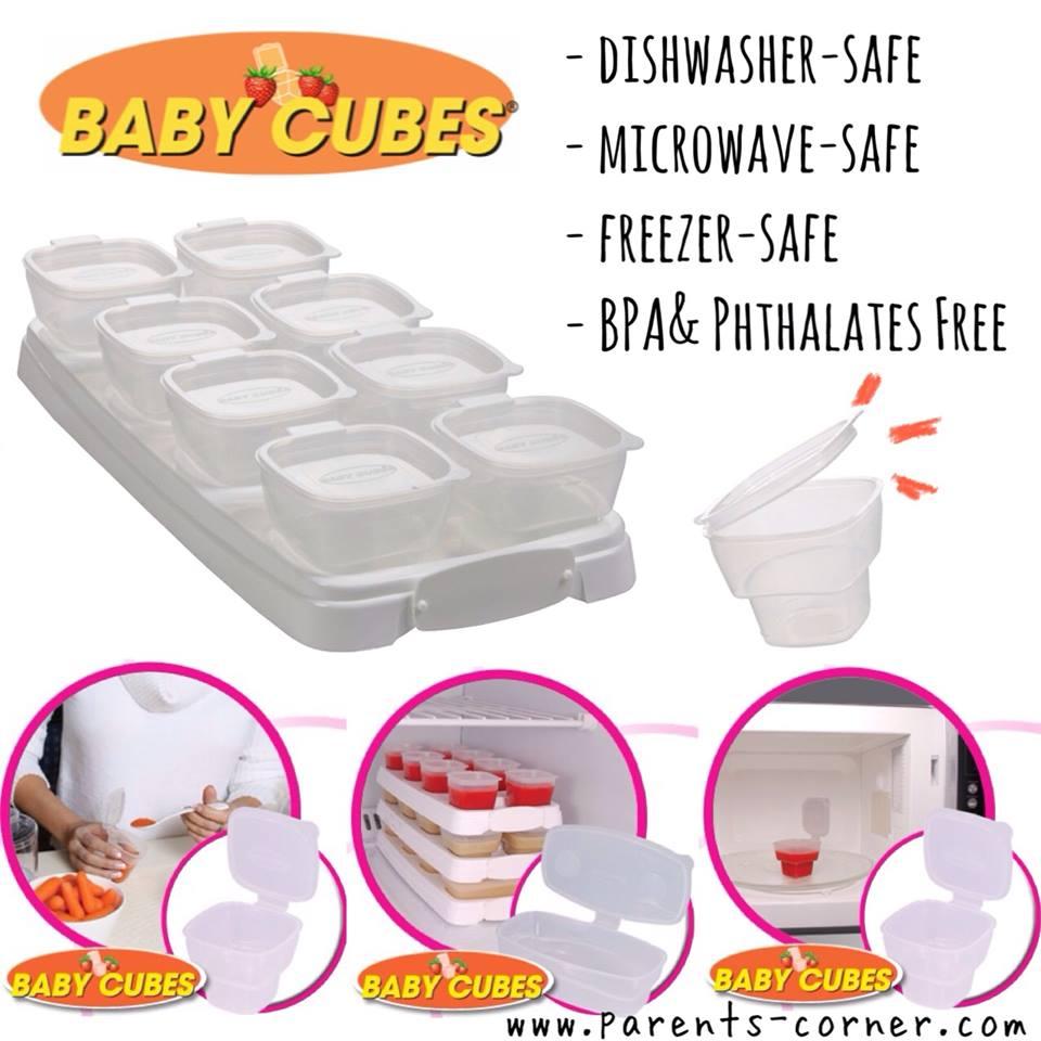 โปรโมชั่น กล่องใส่อาหารเสริมเข้าช่องแข็ง baby cubes 3 ชิ้น ลด 10%