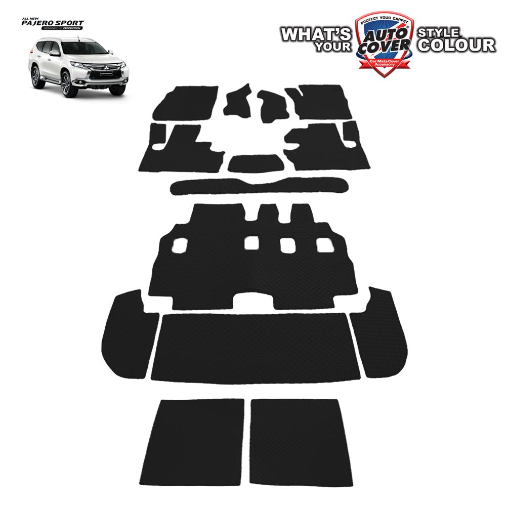 พรมกระดุม Super Save รถ Mitsubishi All New Pajero Sport ปี 2015-2019 ชุด All Full จำนวน 14 ชิ้น