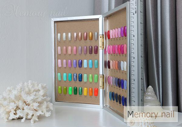 กล่องตัวอย่างสีเจล,กล่องตัวอย่างสีทาเล็บเจล,กล่อง โชว์ สี เจล