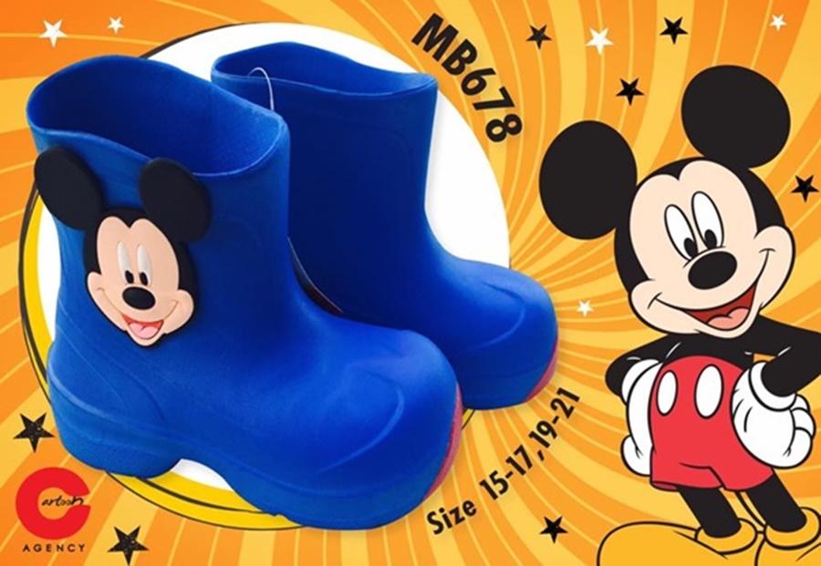 รองเท้าบู๊ทลายมิกกี้ ลิขสิทธิ์แท้ (Size 15 17 19 21 )