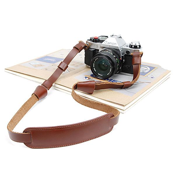 สายคล้องกล้องหนังแท้ cam-in หนังแท้หนา ปรับความยาวสายได้ มีที่รองคอ