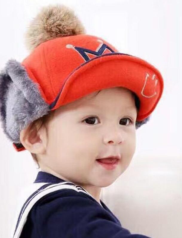 CH115-41 หมวกกันหนาวเด็กกระดุมถอดออกเป็นที่ปิดหูได้ มี 5 สีให้เลือก ขนาดรอบวงศรีษะ 48-52 cm สำหรับเด็ก 2-5 ขวบ