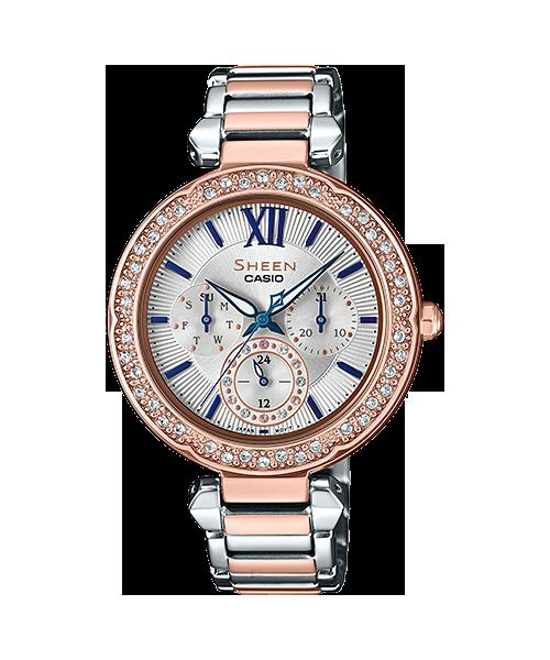 นาฬิกา คาสิโอ Casio SHEEN BLUE&PINK GOLD COLOR SERIES รุ่น SHE-3061SPG-7B ของแท้ รับประกัน1ปี