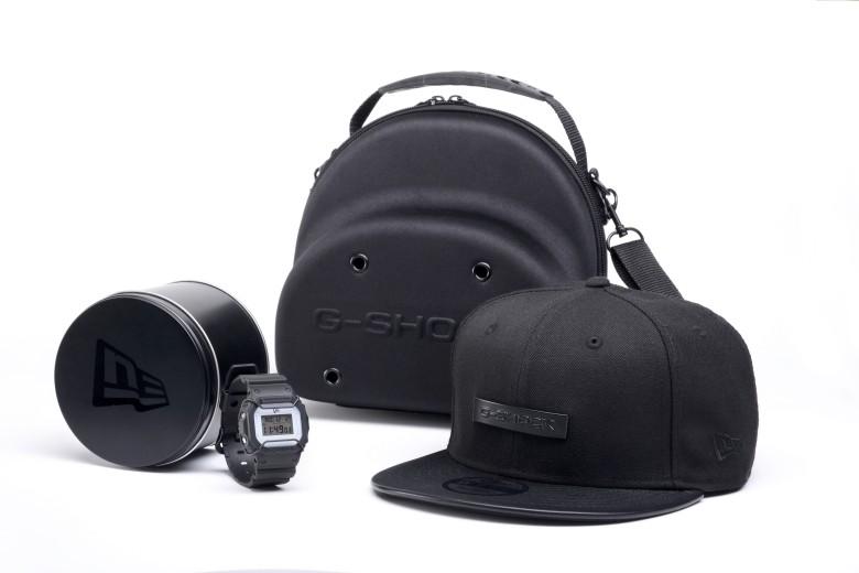 """นาฬิกา Casio G-SHOCK X New Era """"Urban Tough"""" 2017 Limited Edition Full SET รุ่น DW-5600NEWERA-1 with Cap and Bag (ไม่มีขายในไทย) ของแท้ รับประกัน1ปี"""