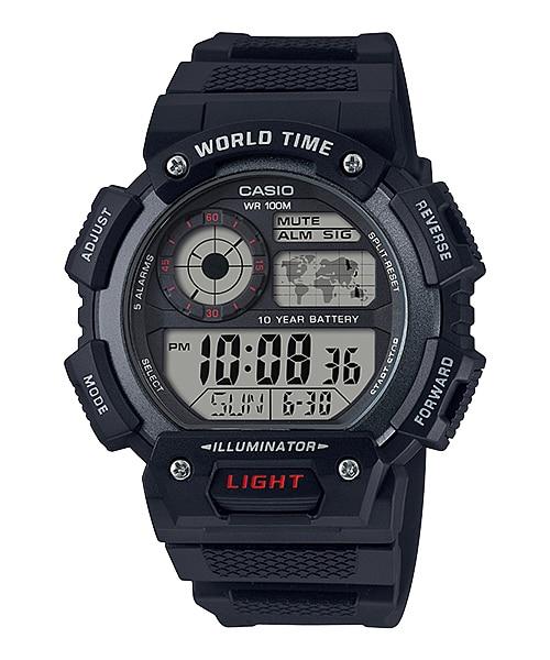 นาฬิกา Casio 10 YEAR BATTERY AE-1400 series รุ่น AE-1400WH-1AV ของแท้ รับประกัน 1 ปี