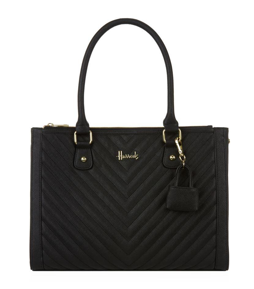 กระเป๋าสะพายแฮร์รอดส์ของแท้ Harrods Novello Chevron Shoulder Bag