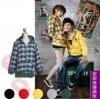 Pre-เสื้อกันหนาวคู่รักลายสก๊อต ใส่ได้สองด้าน มีสี ดำ เขียว แดง Size S