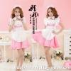 ชุดคอสเพลย์แม่บ้านญี่ปุ่น สีชมพู ขาว