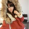 Pre-เสื้อแจคเกตกันหนาวแต่งคอขนแกะ อุ่นๆ สีแดง น้ำเงิน เขียวทหาร Size M,L,XL