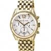 นาฬิกา Michael Kors ไมเคิล คอร์ รุ่น MK5835 Pressley Chronograph White Dial Gold-tone Ladies Watch ของแท้ รับประกัน1ปี